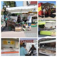 Collage marché du vendredi matin à Waldighoffen