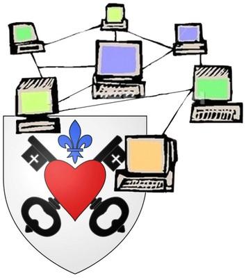 Image des armoiries de Waldighoffen avec une toile d'ordinateurs