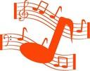 Notes musique orange 1