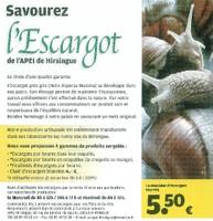 Affiche pour l'opération de vente d'escargots de l'APEI de Hirsingue 2010.
