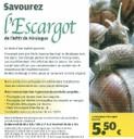 Affiche savourez l'escargot de l'APEI de Hirsingue