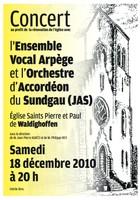 Affiche du concert au profit de la rénovation de l'église de Waldighoffen, le 18 décembre 2010