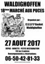 Affiche du marché aux puces à Waldighoffen 2017