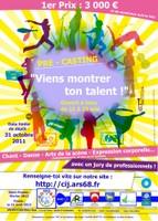 L'affiche annonçant le grand concours de talents organisé par le Conseil Intercommunal des Jeunes - Ottmarsheim.