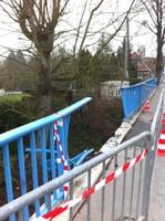 Etat du pont de Waldighoffen après l'accident dans la nuit du 20 au 21 novembre 2010