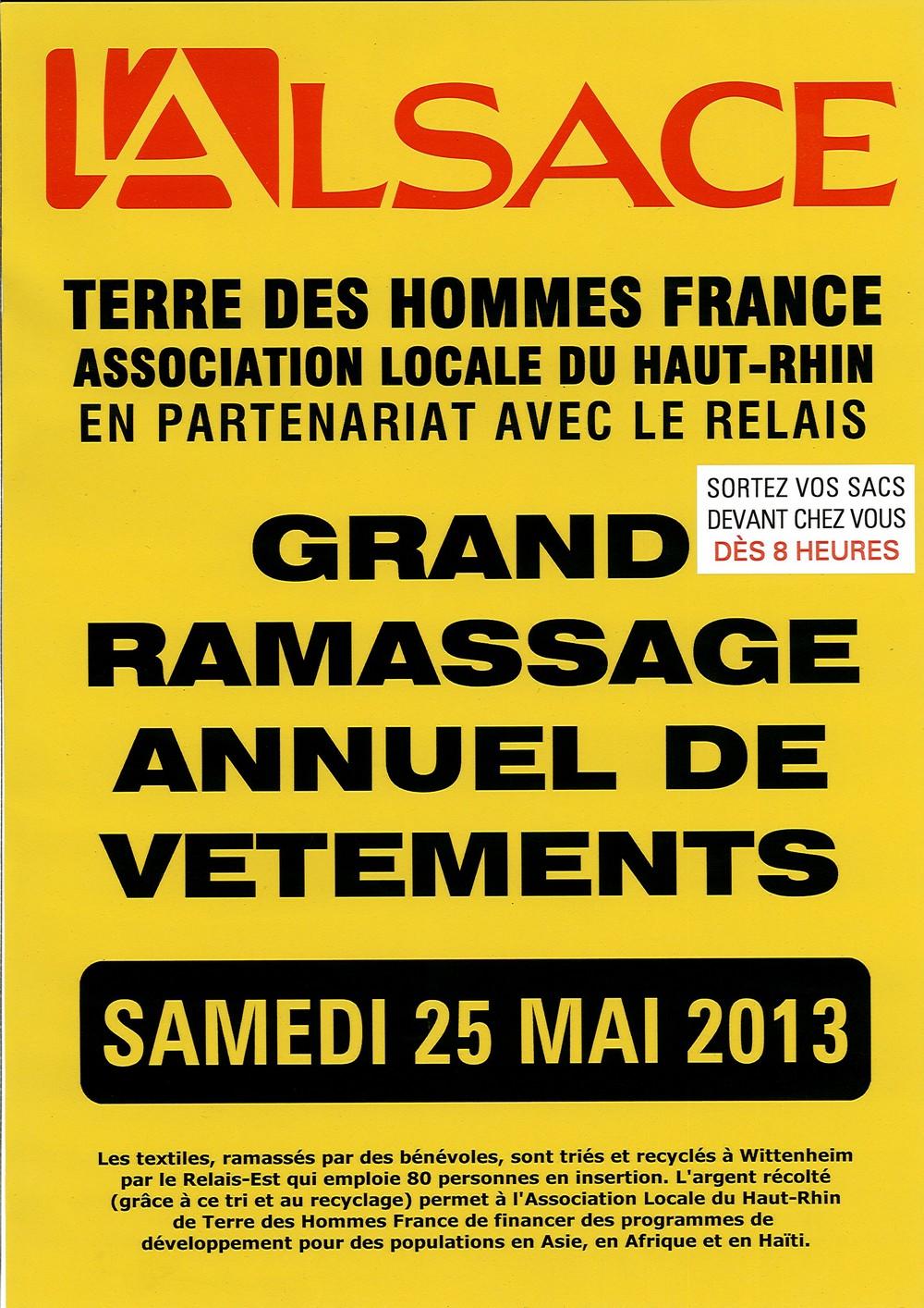 Ramassage Terre des Hommes 2013