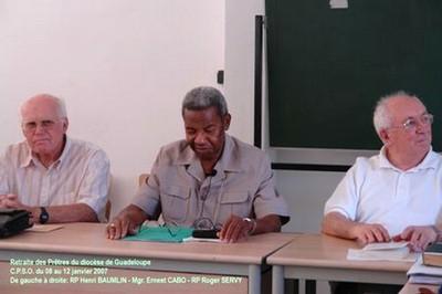 RP Henri BAUMLIN - Mgr. Ernest CABO et le Père Roger SERVY