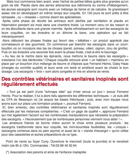 Troisième partie de l'article DNA sur l'APEI d'Hirsingue, novembre 2010