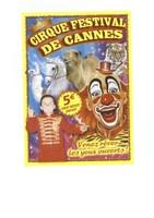 Flyer du Cirque Festival de Cannes