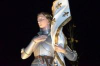 Statue de Jeanne d'Arc de nuit Waldighoffen