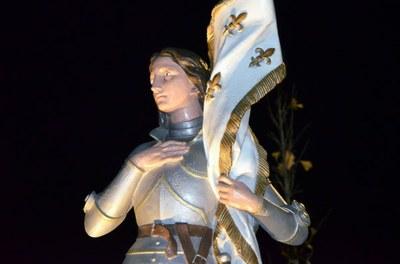 Statue de Jeanne d'Arc de nuit