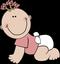 Bébé fille à 4 pattes