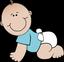 Bébé garçon à 4 pattes