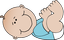 Bébé garçon couché