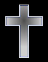 Dessin d'une croix symbolisant une tombe de cimetière.