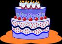 Gâteau d'anniversaire violet