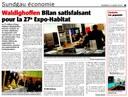 """Cet article est le bilan, par le journal """"L'Alsace"""", de l'Expo-Habitat 2010 à Waldighoffen"""