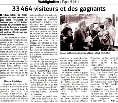 Article des DNA sur l'Expo-Habitat 2010