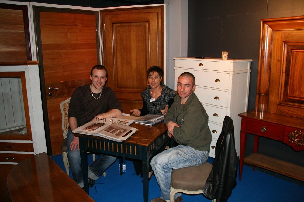 Expo Habitat 2010 stand de portes et meubles en merisier