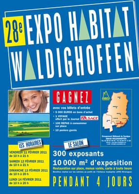 Affiche Expo Habitat 2011 Waldighoffen