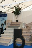 Des escaliers en granit à l'Expo-Habitat 2011 de Waldighoffen