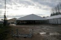 Les tentes de la prochaine Expo Habitat à Waldighoffen