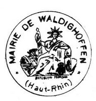 Tampon de la Mairie de Waldighoffen en 1945