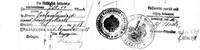 Extrait d'une facture de 1918-Cachets allemand et français côte à côte