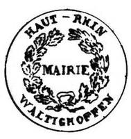 Tampon de la Mairie de Waldighoffen - 1832