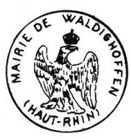 Tampon de la mairie de Waldighoffen - 1848