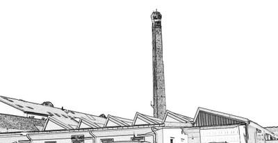 Croquis-usine d'après photo