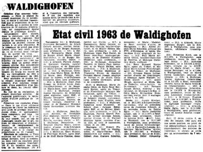 Extrait de presse - 1963
