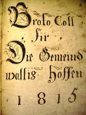 Extrait du registre des délibérations du conseil municipal en 1815