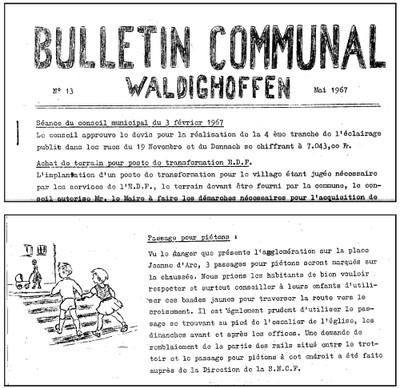 Extraits de stencils en 1967