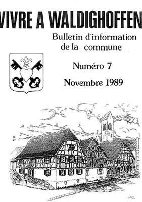 Couverture Vivre à Waldighoffen n°7-novembre 1989