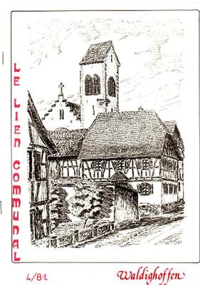 Couverture d'avril 1981 du bulletin municipal de Waldighoffen