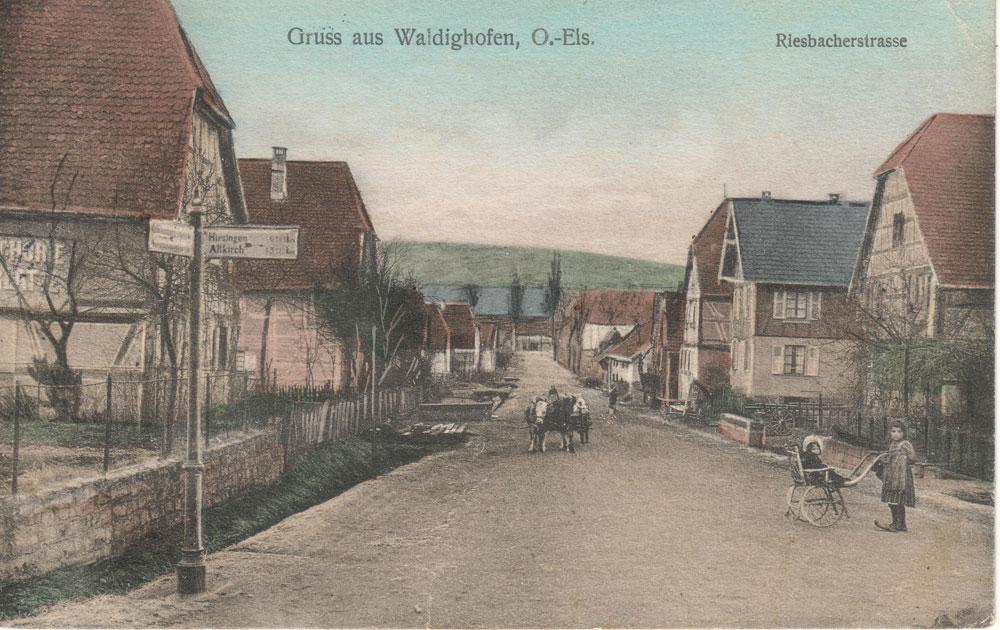 Riesbacherstrasse vers 1900