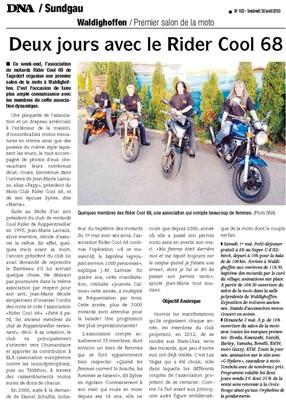 Article DNA motards du 30 avril 2010