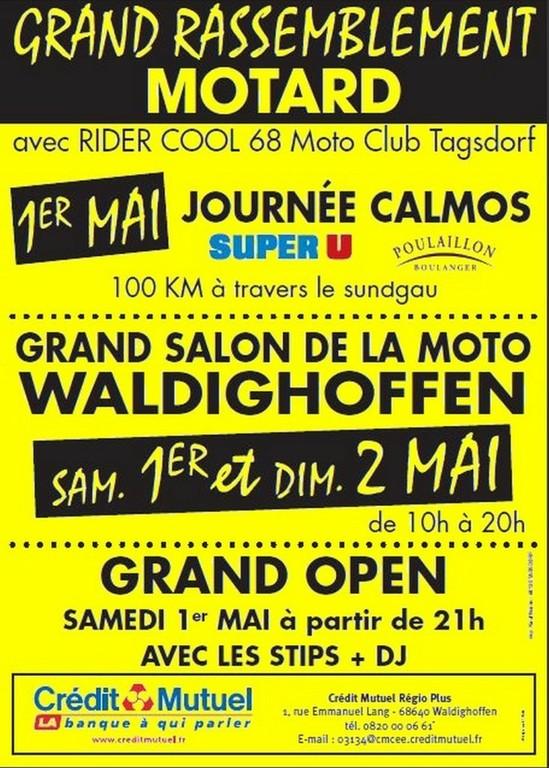 Affiche motards 2010 jaune