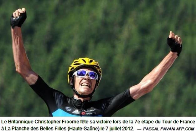Tour de France 2012 Christopher Froome à la Planche des Belles Filles (Afp Pascal Pavani)
