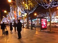Champs Elysées (au 1er plan Henri Hoff)
