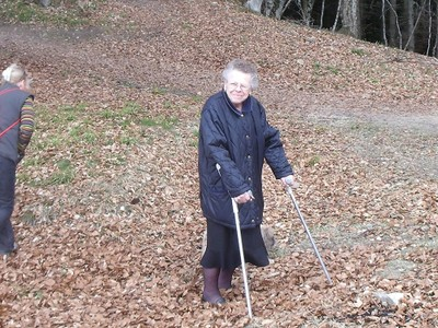 Marlène Pernot en forêt