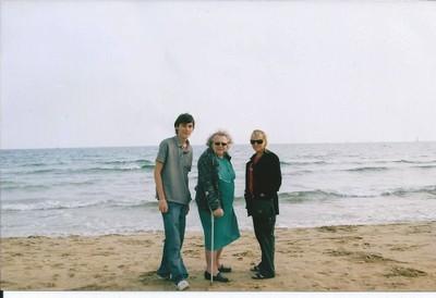 Marlène Pernot sur la plage