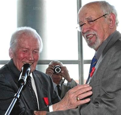 Médaille Goetschy - Pierre Schielé et Henri Goetschy - photo DNA
