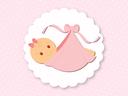 Bébé couché - fille