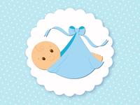 Image d'un bébé couché - garçon