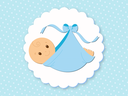 Bébé couché - garçon