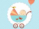 Bébé dans une poussette - garçon