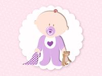 Image d'un bébé debout - fille