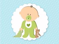 Image d'un bébé debout - garçon